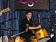 Jason playin' his drums